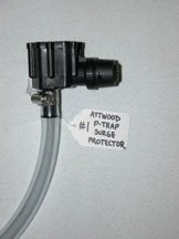 Attwood brand p-trap fuel surge protector