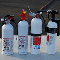 testers fire extinguisher choices