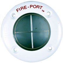 a fire port, as one would see on an engine compartment