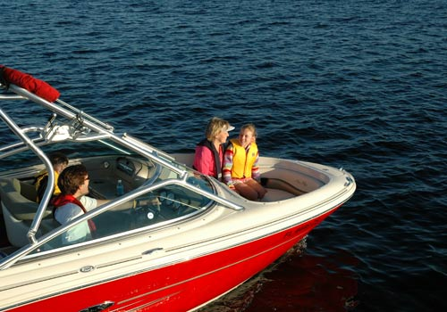 boating safety course family on a boat