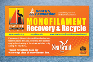 Monofilament recycling program in Texas