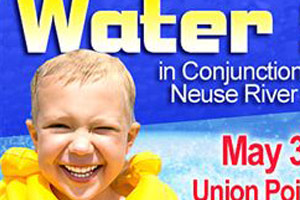 A banner for the Water Safety Day at Union Point Park in Craven County, NC.