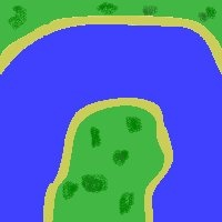 a bad drawing of a river bend