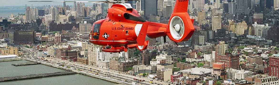 a coast guard helicopter